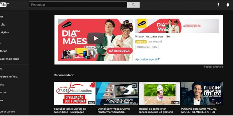 Youtube de Cara Nova!