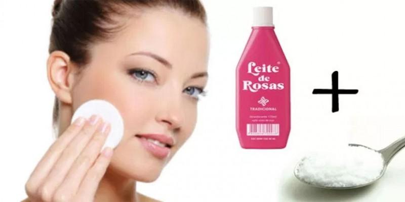 Como clarear manchas no rosto com bicarbonato e leite de rosas