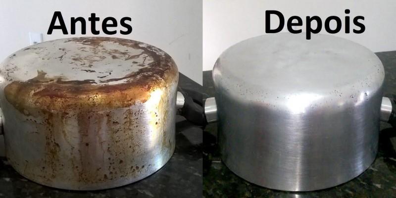 Receita caseira para remover manchas das panelas queimada.